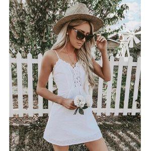 White Windsor mini dress